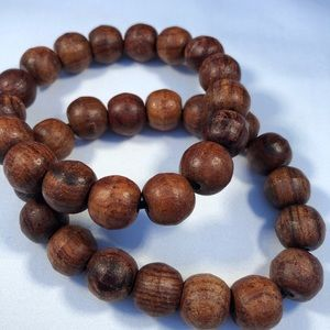 3for $20 Brown Wood Bead Bracelets